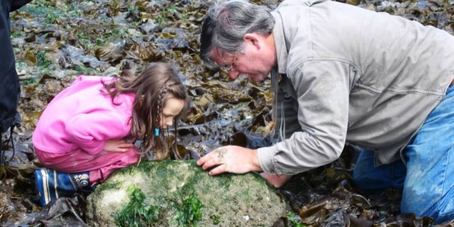 Scientist and Child - Vashon Nature Center